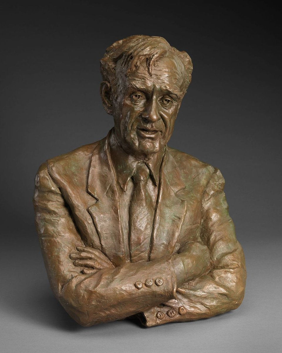 "Elie Wiesel devoted his life to ensuring the Holocaust and its victims are never forgotten. A survivor of the concentration camps where his family was murdered, he wrote the memoir ""Night."" @smithsoniannpg's Miriam Baker sculpture:  #HolocaustRemembranceDay"