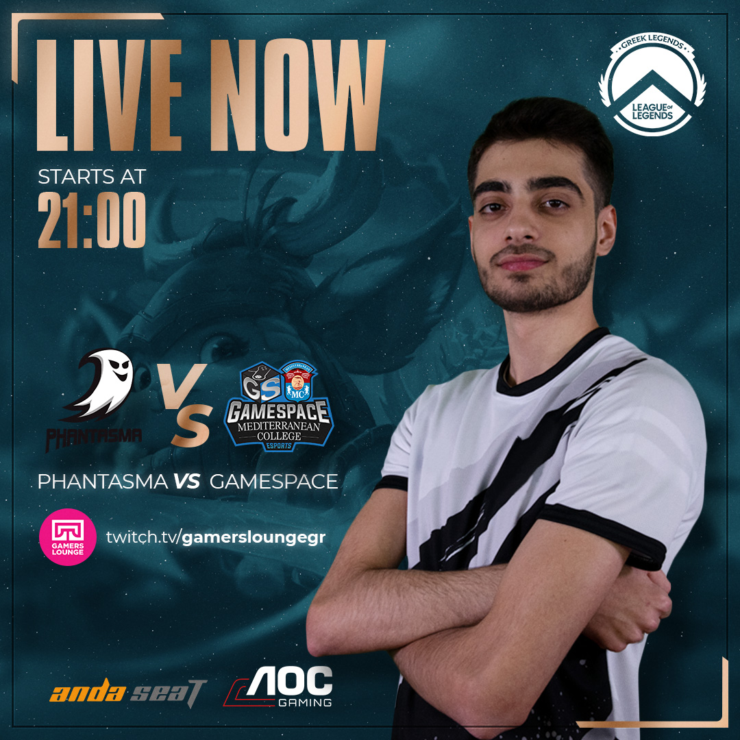 DAY 5 | LIVE NOW  @GamespaceEsport powered by @medcollege1.  TP 🆚GSMC  👁‍🗨Support us with one click :   Official Sponsors: @medcollege1 @AOC_Gaming @andaseatchair  #Gamespace #Esports #GLL #MediterraneanCollege #AOCGaming #AndaSeat #GSWIN #Sponsored