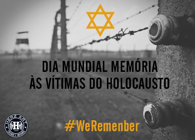 27 de janeiro é o dia em que todos devemos relembrar e abominar o genocídio cometido pelos nazistas, durante a II Guerra Mundial, contra milhões de pessoas.  Nunca deverá ser esquecido.  Deixamos aqui nossa solidariedade.  #WeRemember