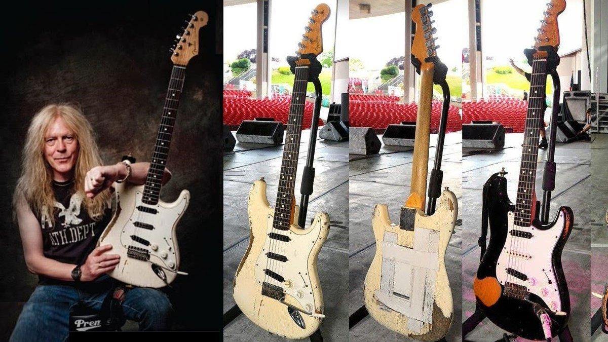 January 27, 1957. Janick Gers is born in Hartlepool, UK - Janick Gers' Fender Strats #guitar @Fender #Stratocaster #JanickGers #IronMaiden