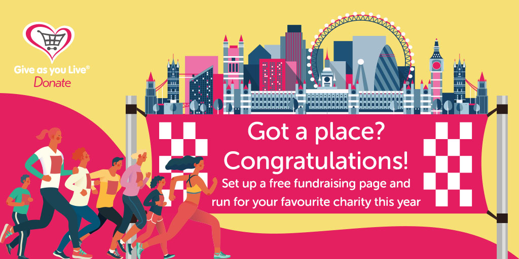 🏃 Secured a #LondonMarathon place for October? 👏  You can now set up free fundraising pages, collect sponsorship and even link your Strava activity with Give as you Live!  👉