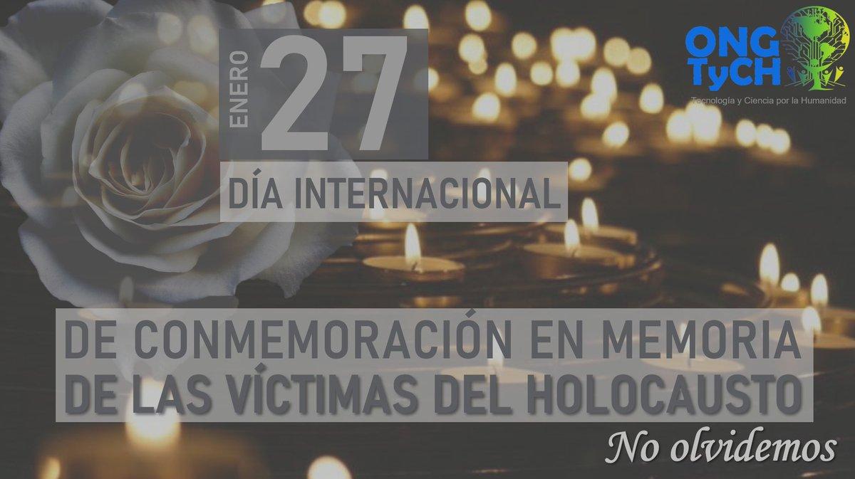 """""""Un pueblo sin memoria es un pueblo sin futuro"""". #NoOlvidemos #Recordemos #WeRemember #DíaConmemoraciónVictimasHolocausto #NuncaMás #OngTych #construyendounmundomejor #PorUnMundoMejorParaNuestrosHijos #PorUnMundoMejorParaTodos"""