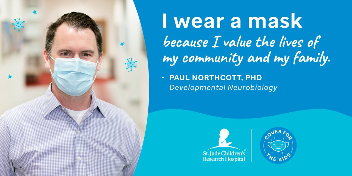 """""""I wear a mask because I value the lives of my community and my family."""" – Dr. Paul Northcott, Developmental Neurobiology. How you can participate: https://t.co/tKTLsaud27 #WearAMask @drpaulnorthcott https://t.co/asQox4JhNH"""