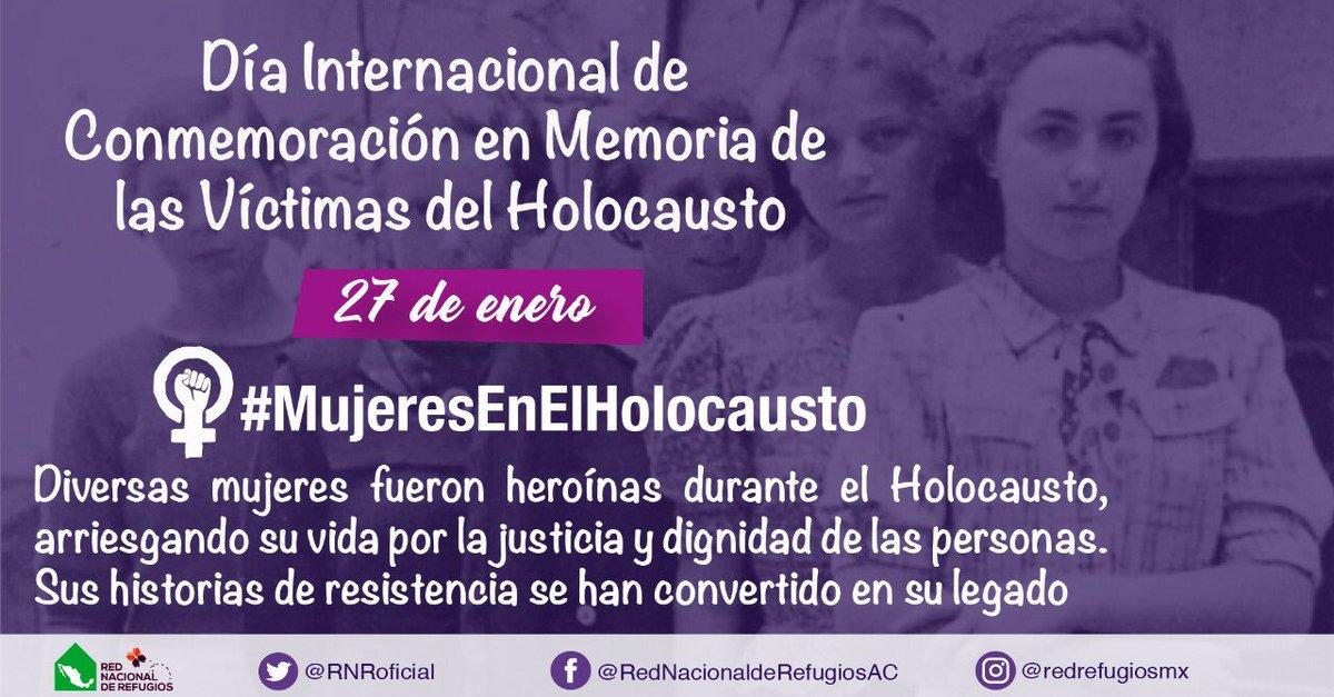 📣Hoy Día Internacional de Conmemoración en memoria de las víctimas del #Holocausto en la @RNRoficial visibilizamos a las🚺que cambiaron la historia de cientos de víctimas  🟣Ellas salvaron vidas,rompieron esquemas enfrentando un sistema patriarcal y violatorio de #DDHH 👇🏻