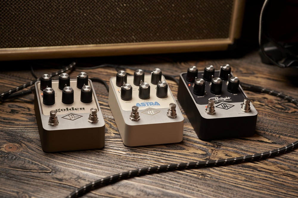 SOS NEWS  @UAudio have just unveiled a brand-new range of premium guitar pedals, the new UAFX series, which is due to start shipping this Spring, and each pedal will sell for $399    #UA #UAFX #pedal #guitar #pedals #guitarist #gear #guitarpedals