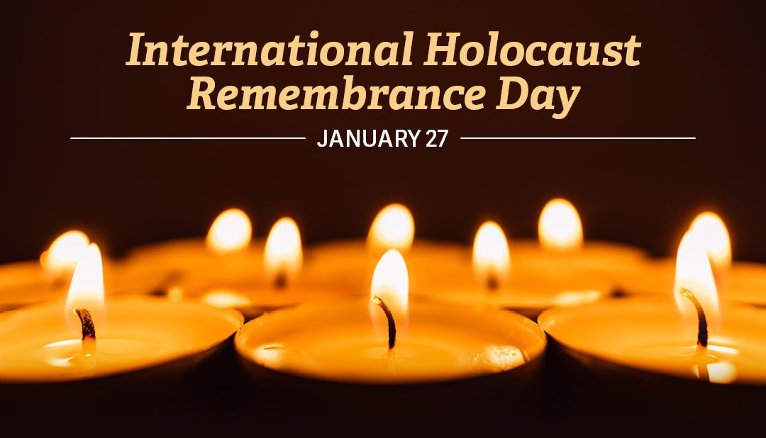 On #HolocaustRemembranceDay, we mourn the lives of six million Jews and millions of others lost to the evils of Nazism. Avoiding the horrors of the Holocaust in the future means calling out anti-semitism, hatred, bigotry, and bias now. #WeRemember