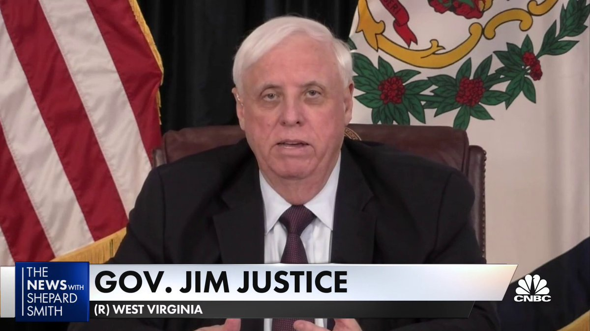 """If we had the doses in West Virginia by Valentine's Day, every person in this state 65 years of age and older would be vaccinated."" WV Gov. Jim Justice calls for more vaccine doses, saying ""we've got to move, we've got to quit planning."""