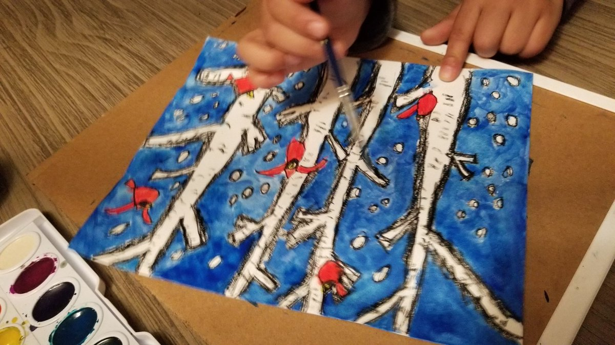 My 7 year old son's art #dionnewarwick