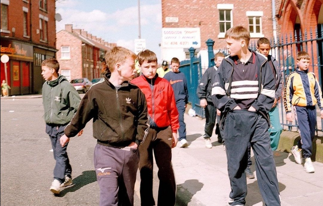 c1990 by Goodison Park, Everton photo by Tom Wood