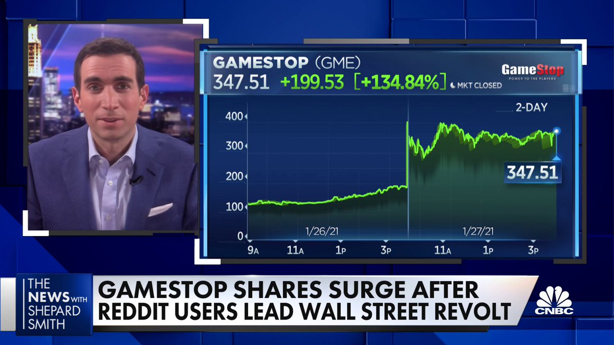 "People should be cautious about getting into GameStop's stock, @andrewrsorkin says. ""The truth is that there's no fundamentals behind what's happening here anymore."""