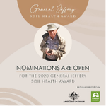 Do you know someone who is helping to improve soil health in Australia?  Nominations for the General Jeffery Soil Health Award close 31 March. Apply Now! #soilhealth #soilhealthaward  https://t.co/sQJZ66DSFv