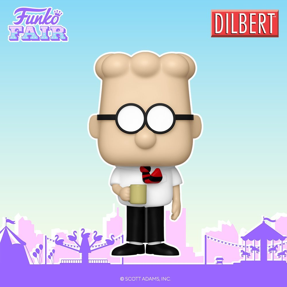 In the final reveal of the day, Funko announces the Dilbert POP! Available now ~ EE ~  Citi ~  FYE ~  MHS ~  #Ad #FPN #FunkoPOPNews #Funko #POP #Funkos #Dilbert #FunkoFair #FunkoFair2021