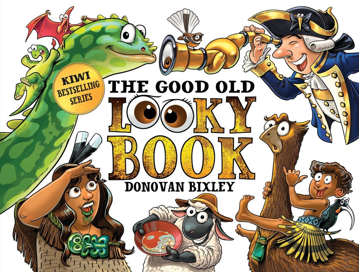 Not only is The Good Old Looky Book by Donovan Bixley a history of NZ, but it's also a seek-and-find book to engage the whole family (I'm still trying to find all the moa). Bright and appealing with a sense of humour. Real Kiwi goodness. @HachetteNZ #PictureBook  #NatLibReads https://t.co/glsuI2nQRL