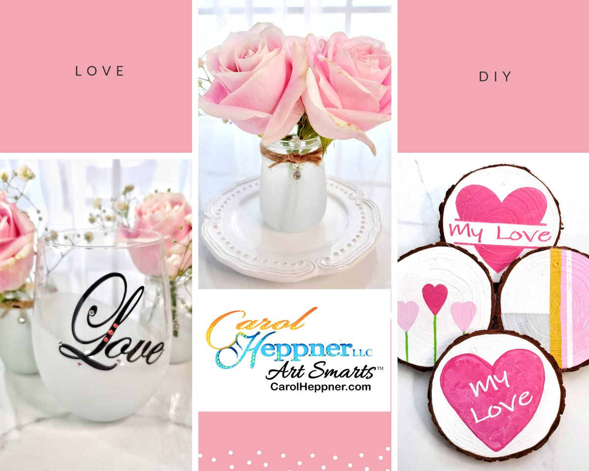 Your creative friends will love these 7 #Valentinesday ideas using @TestorsTweets and @RustOleum paints:  Instructions at  #ad  #Wednesdaythoughts #Wednesdayvibes