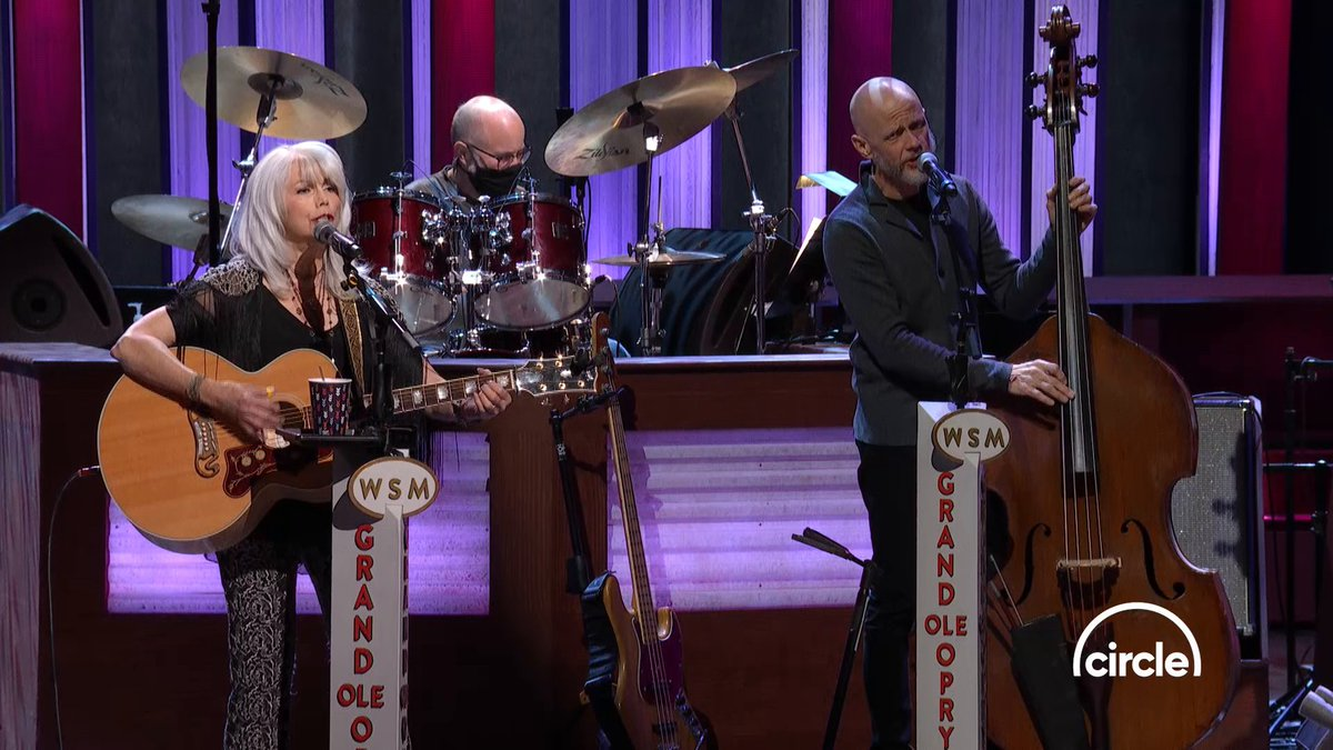 """Did you catch @EmmylouSongbird back on the Opry stage this month? She performed """"When We're Gone, Long Gone"""" while she was here!   Watch the full performance here:  and tune in to the Opry live on @circleallaccess every Saturday night!"""
