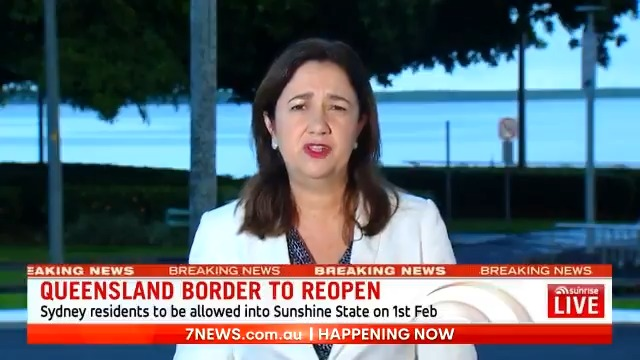 #BREAKING: Queensland will reopen its border to Greater Sydney on February 1, Premier @AnnastaciaMP has announced.  More on this story: