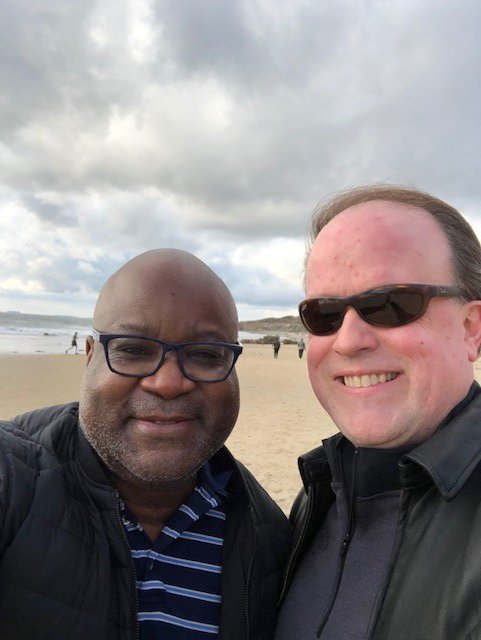 @dionnewarwick #dionnewarwick  Me and my honey at the beach this weekend - 16 years together this year!
