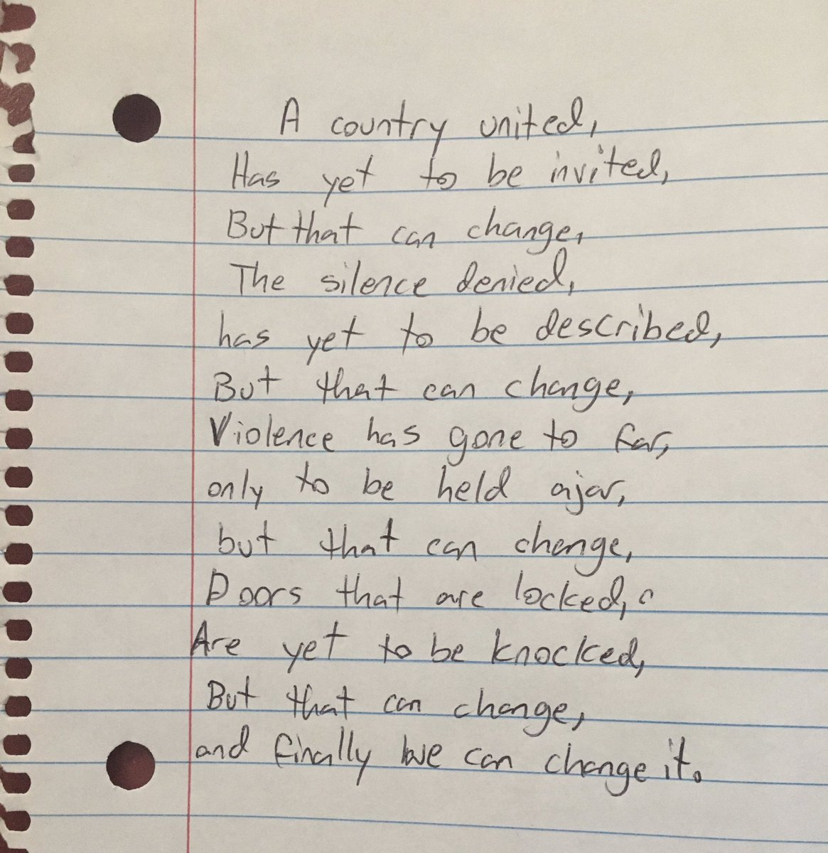 @dionnewarwick My 10-year-old daughter wrote this. She was inspired by @TheAmandaGorman ❤️ #dionnewarwick