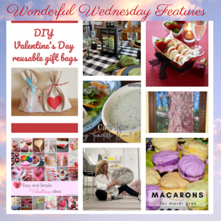 New Linky Party: Wonderful Wednesday 1/27-1/31 Crafts, Recipes, Projects, Giveaways, DIY and more! Check it out, add your own if you have a favorite!  #blogger #recipe #bloggers #fashion #Linky #WednesdayThoughts #WednesdayHumpday #WomensWednesday