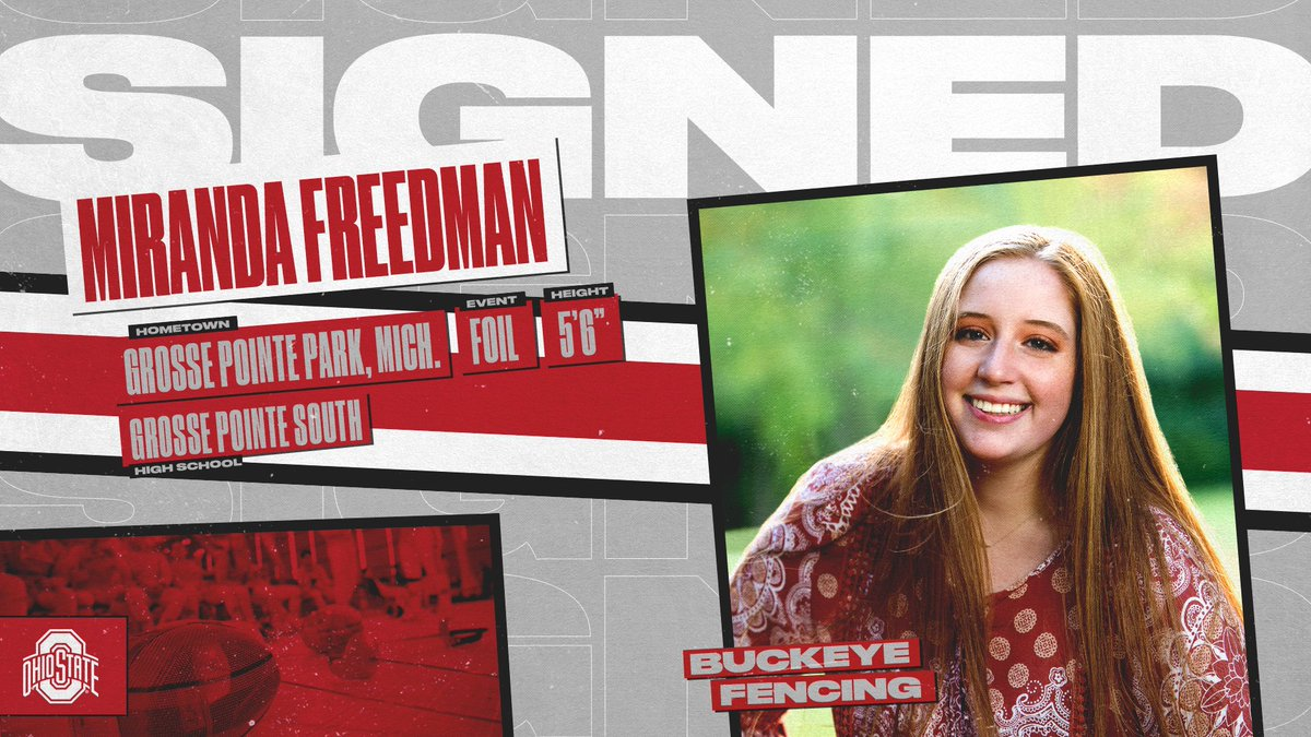🚨 New Buckeye Alert 🚨   Welcome Miranda Freedman to the Buckeye fencing family!   #GoBuckeyes