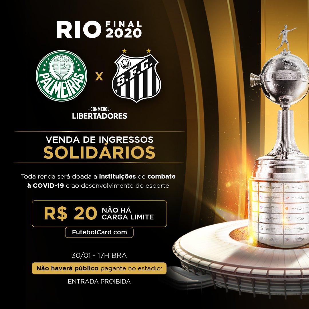 Alô, #FamíliaPalmeiras! Já garantiu seu ingresso virtual para a final da #Libertadores? 🎟️  A venda simbólica começou e a renda será revertida para ações em combate à Covid-19! Compre e concorra a uma camisa autografada do #Palmeiras ➤   #AvantiPalestra