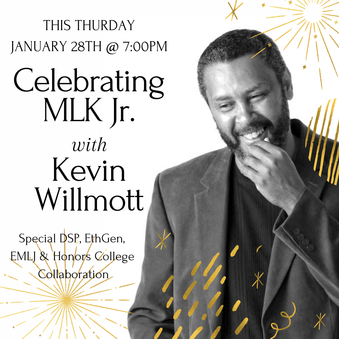 Join us for a special virtual conversation celebrating the life and legacy of Dr. Martin Luther King, Jr. with Oscar-awarding-winning film director and screenwriter Kevin Willmott on Thursday, Jan. 28 at 7:00 PM.  Register at . #ESUnited #MLKDay