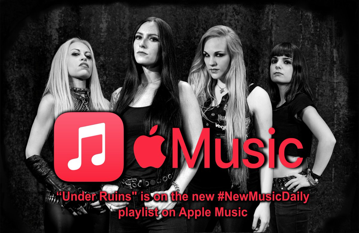 """Check out our latest single """"Under Ruins"""" on the new #NewMusicDaily playlist on @applemusic    To buy our new album and our official merchandising:   #nervosa #applemusic #itunes #playlist #newmusicdaily #metal #thrash #death #rock"""