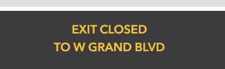 #downtown #Detroit Police have closed the M-10 SB exit to W Grand Blvd #traffic #roads @WWJTraffic @JPaigeWWJ @JasonScottWWJ #DetroitForward with your next update here