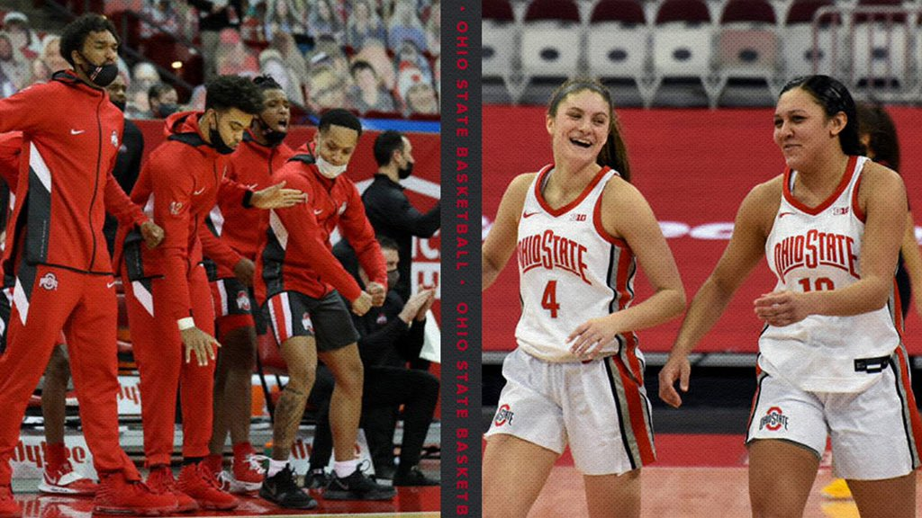 DYK💡  🏀 @OhioStateWBB is coming off back-to-back wins over ranked opponents & @OhioStateHoops has three straight wins over Top 15 opponents!  #GoBuckeyes