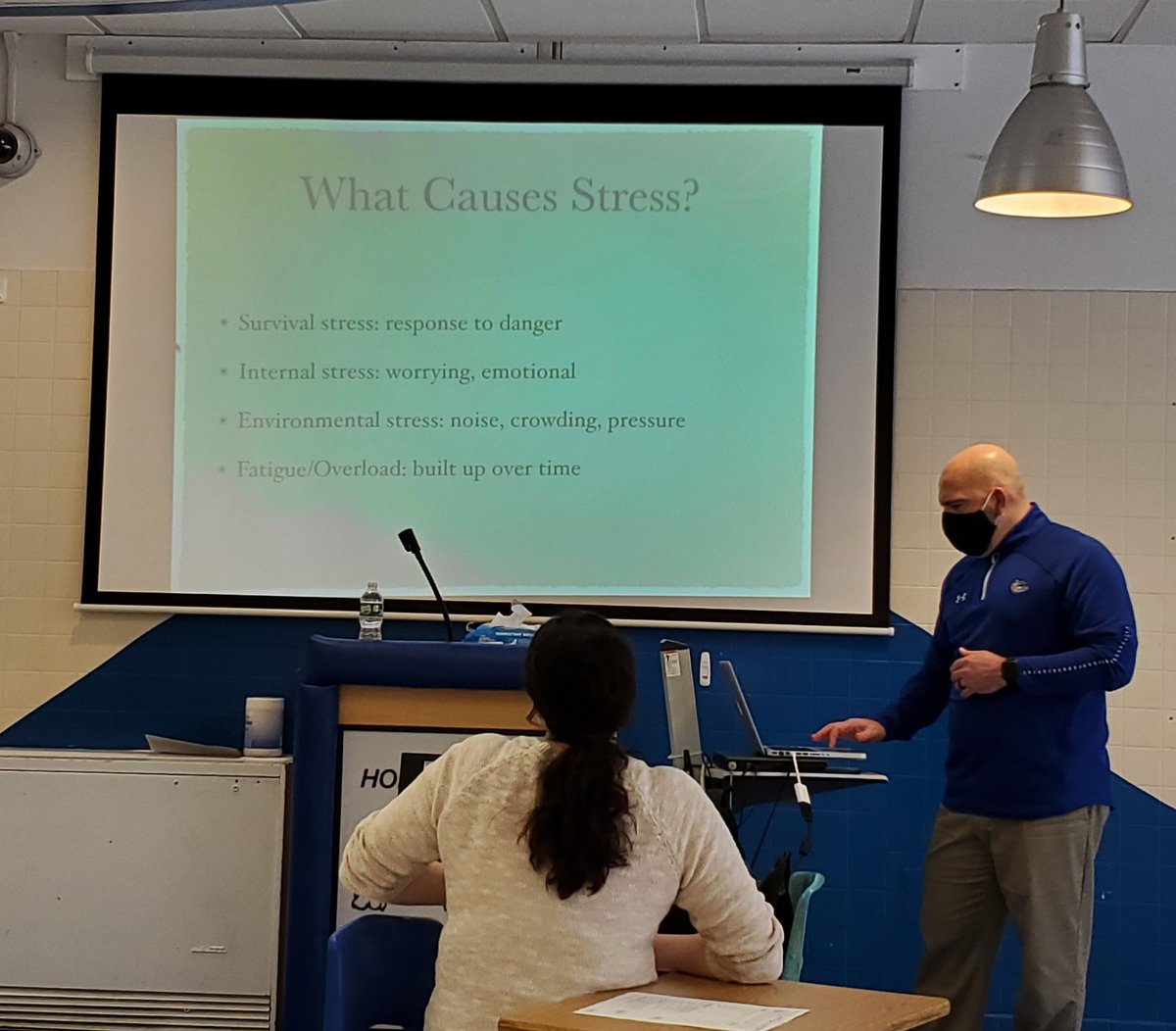 Thanks Mr. Luciani for sharing with our Wellness Club today on exercise for stress management! #stressmanagement #wellness
