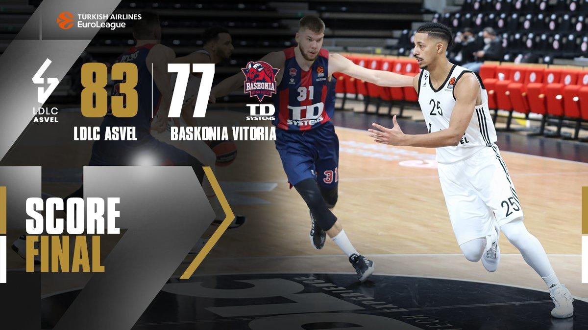 EuroLeague – Orribile 3°quarto,l Baskonia di Polonara cade a Villeurbanne contro l'Asvel