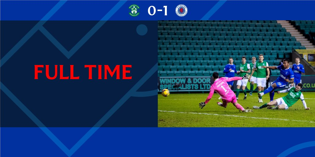 FULL-TIME: Hibernian 0-1 Rangers  +3
