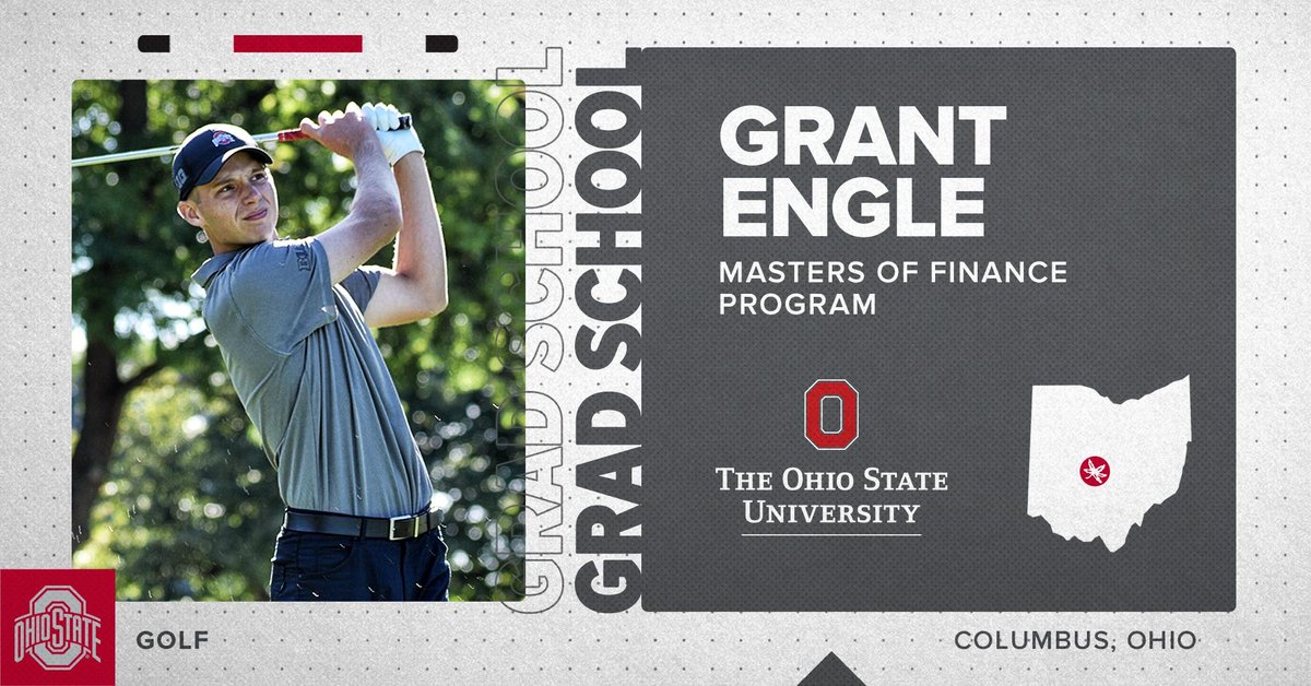 Congrats to two-time OSU Scholar-Athlete @EngleGrant on his acceptance into the Master of Finance Program here at The Ohio State University! 📚  #GoBuckeyes | #BuckeyesLead