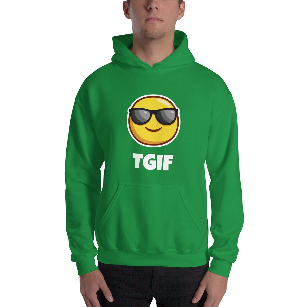 TGIF - Hooded Sweatshirt #Funny#love #beautiful #cute #picoftheday #follow #followme #style #design #lifestyle #fashion #trending #mustbuy #shop #shopping #like4like #followforfollow