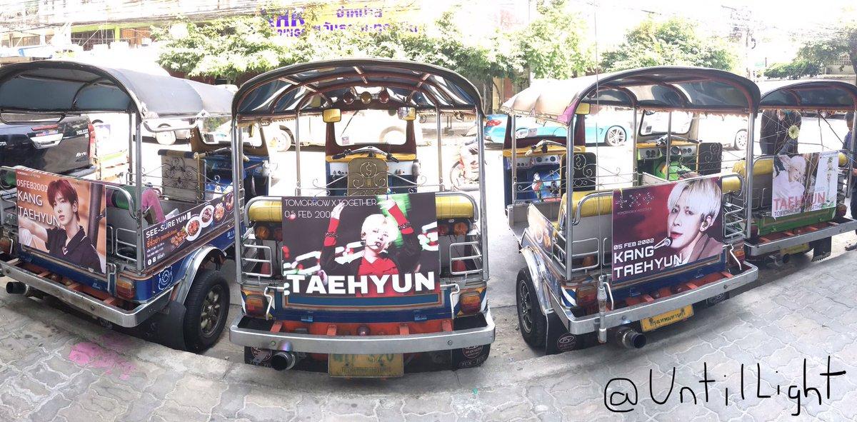 #TAEHYUN Birthday Ad Posters are on Tuk Tuk in Thailand 🇹🇭   ©UntilLight #TXT_TAEHYUN #TXT_태현 #태현 #투모로우바이투게더 #TXT  #TOMORROW_X_TOGETHER  @TXT_members