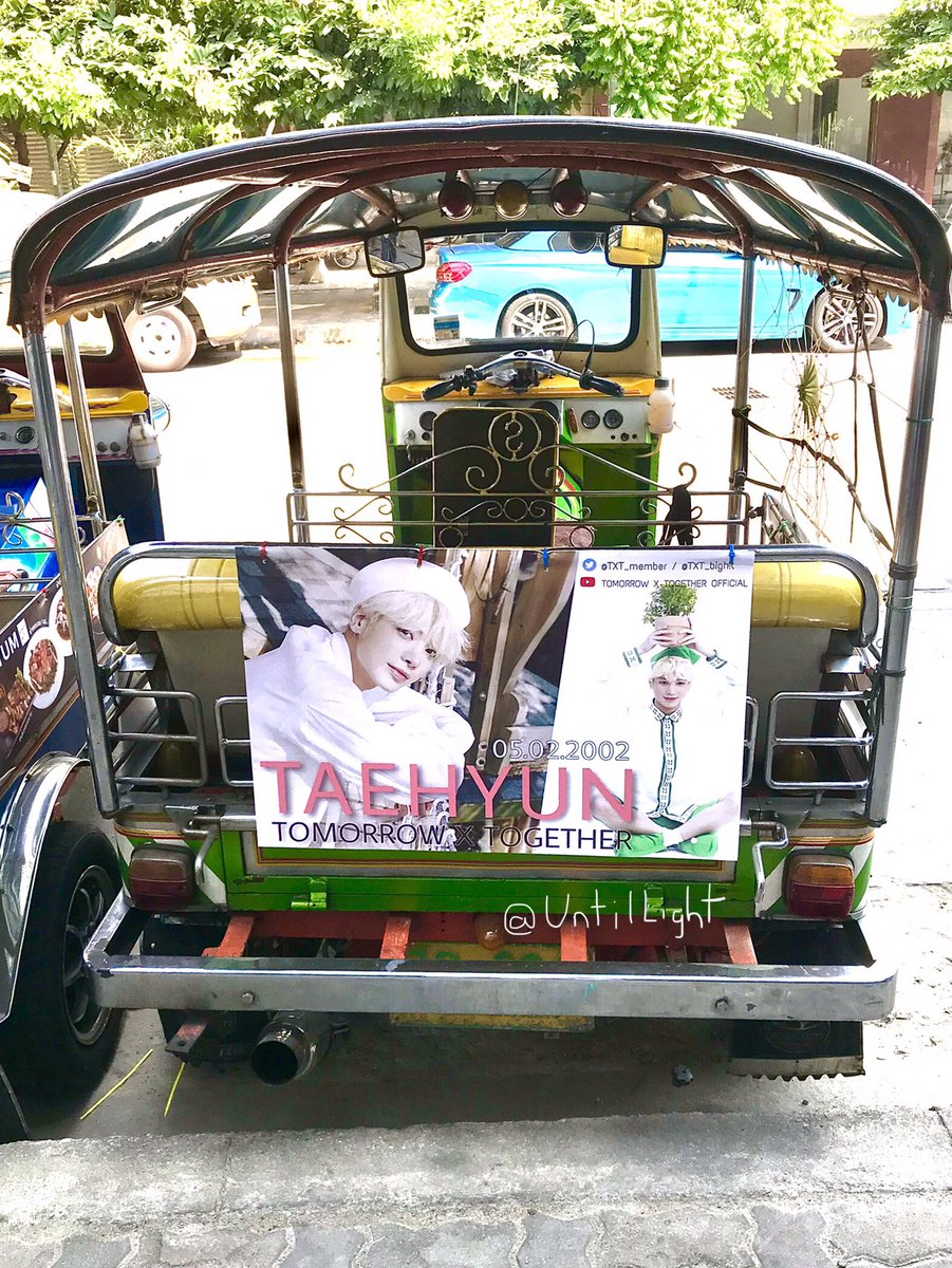#TAEHYUN Birthday Ad Posters are on Tuk Tuk in Thailand 🇹🇭 😍😍  ©pic owner  #TXT_TAEHYUN #TXT_태현 #태현 #투모로우바이투게더 #TXT  #TOMORROW_X_TOGETHER  @TXT_members @TXT_bighit