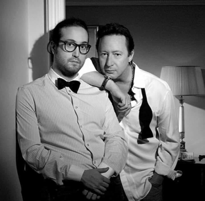 Sean and Julian Lennon.  #beatles #thebeatles #beatlessons #seanlennon #julianlennon #music #musicians #repost #talent #great #greatphoto #style #mood #bowtie #brothers #instagram #family #instagood #instadaily #instabrother #twitter