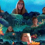 Mrs Edwards' Year 6 English class trying out the 'together' mode - under the sea. #homelearning #remotelearning #LongacreAtHome #longacreschool
