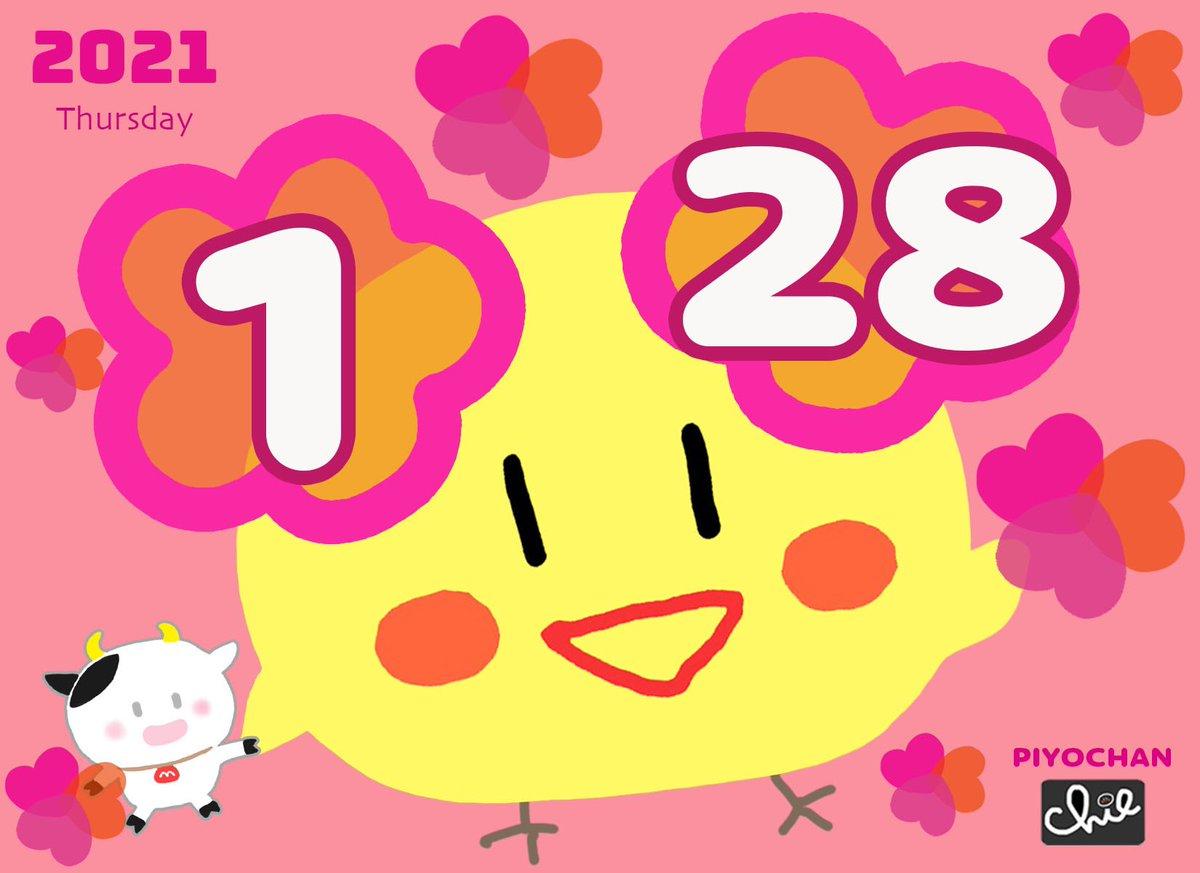 🎀木曜日ピヨ🎀 おはピヨ〜🐤💕🐣💕 今日もよろピヨピヨ〜🐥💕👋🏻 🌸🍒🐤🌸🍒🐤🌸🍒🐤🌸 #Thursday #おはよう   #ピヨちゃん #ピヨカレンダー #2021年 #丑年 #令和3年