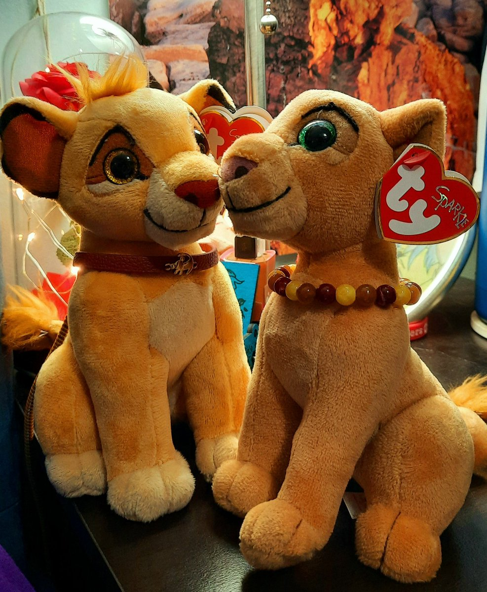 """""""Can you feel the love tonight?~♡""""  """"You needn't look too far~♡""""  """"Steeling through the night's uncertainties~♡""""  """"Love is where they are~♡""""  @fluffyinnocence  @Disney  #TheLionKing #Simba #Nala #ValentinesDay #ValentinesDayCountdown #ValentinesDay2021"""