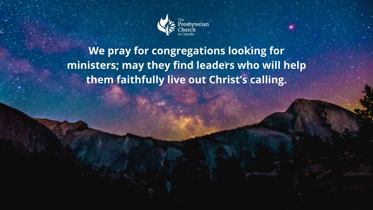 Pray congregations that are looking for competent and faithful ministers. #presbyterian #dailyprayers #church #faith #congregations #worship #ecumenical #theology #theological