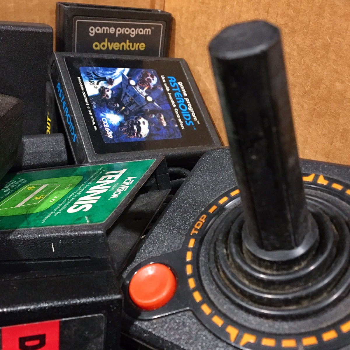 I'm a fan of the classic. 🕹| #videogames #atari #joystick #atari2600 #videogamecartridge #asteroids #adventure #activision #oldschool #waybackwednesday