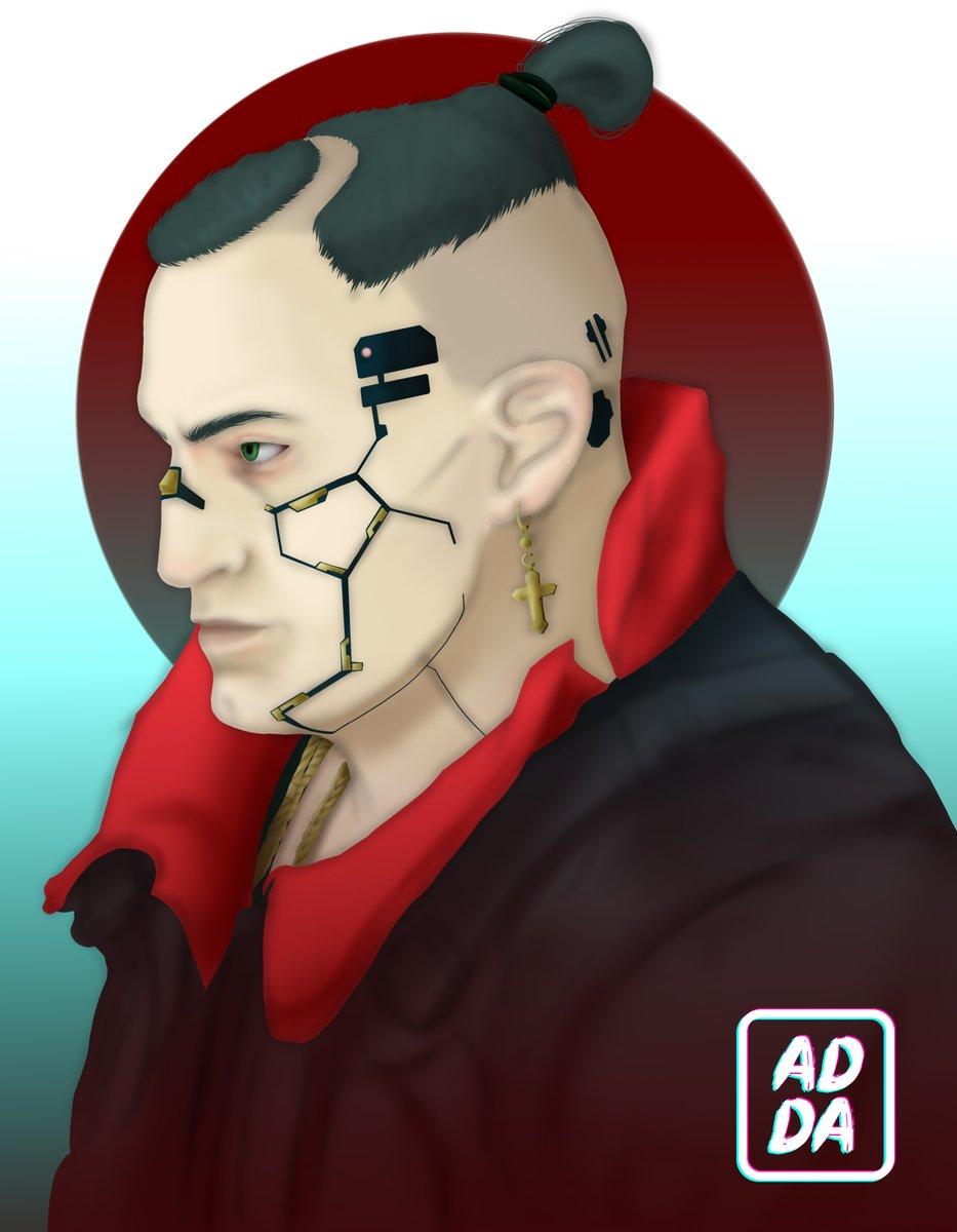 """""""This is it, chica. I'm done for"""" . . Quiero dibujar a todos los personajes que me gustan de #cyberpunk2077 (básicamente todos) y que mejor que con #jackiewelles . #cyberpunk #cyberpunk2077fanart #cdprojektred #portait #fanart #artwork"""