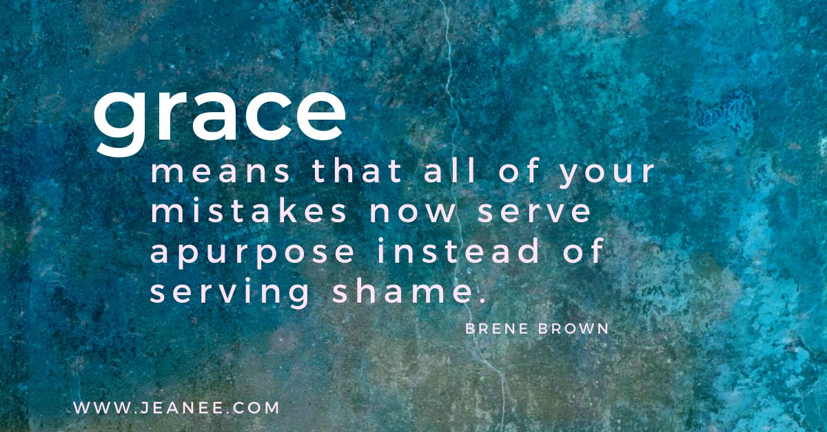 I love this Brene Brown quote. What does grace mean to you? Let's shower each other with grace. Have a wonderful day!  #wednesdaywisdom #wisdomwednesdays #grace #kindness