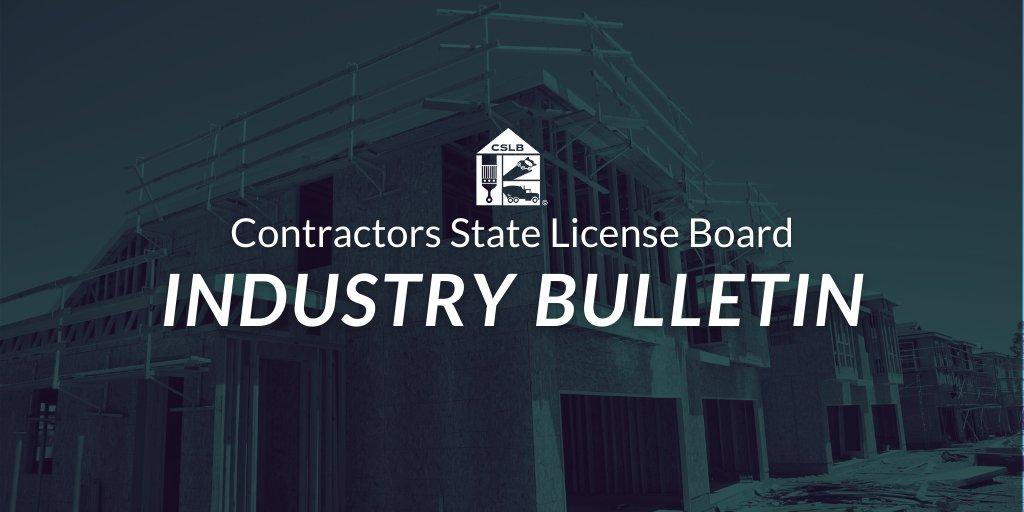 CA Contractors Board (@CSLB) | Twitter