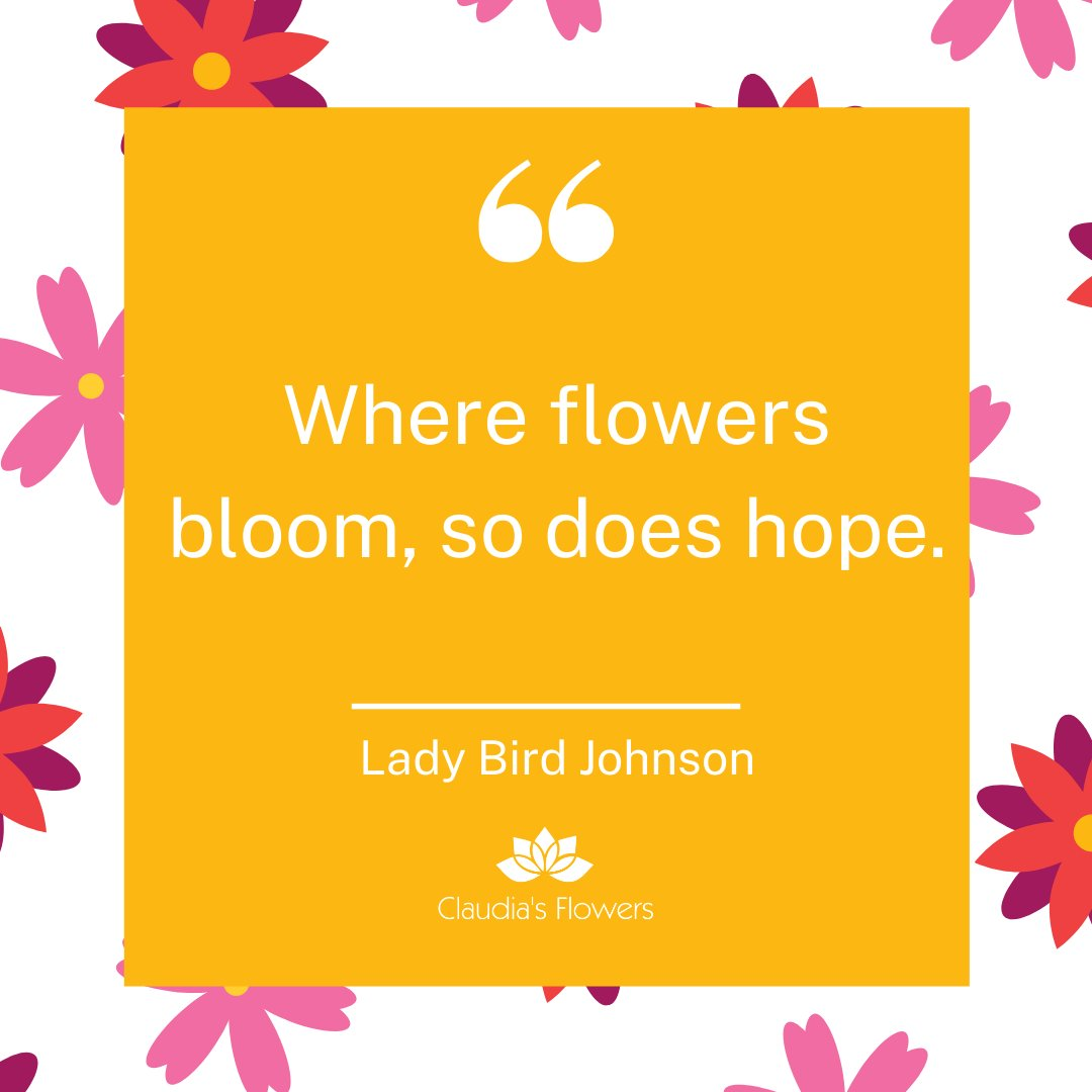 """Where flowers bloom, so does hope."" - Lady Bird Johnson  #hope #flowers #bloom #inspiration #quotes #johnson #ladybird"