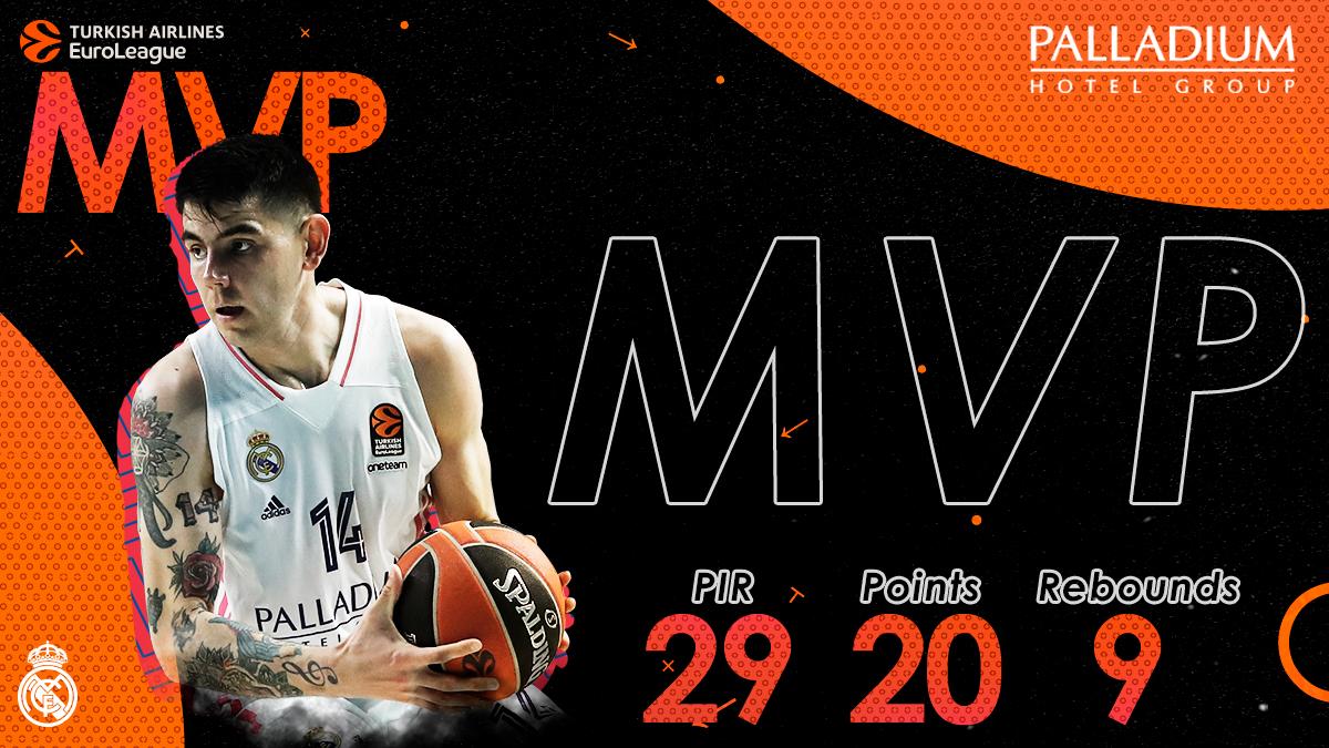 ⚡ El #MVPalladium del partido frente al @paobcgr ha sido @gabriel_deck.  #HalaMadrid | @PalladiumHG