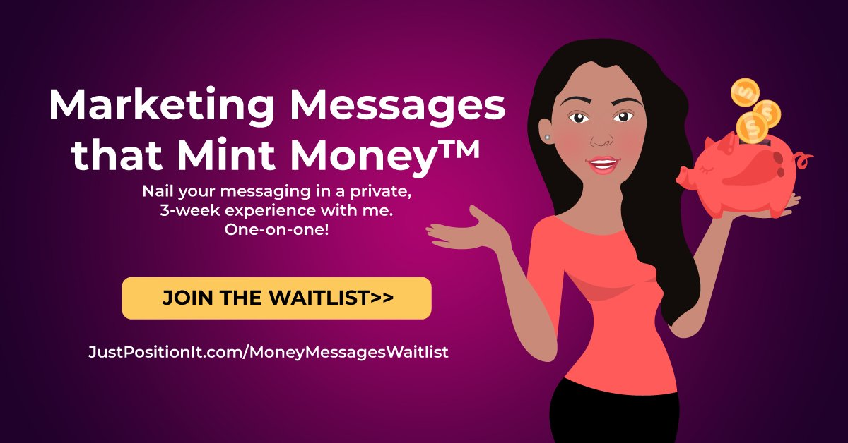 ARE YOU ON THE WAITLIST?!  Marketing Messages That Mint Money®. #copywriting #content  #marketing #love #contentmarketing  🙌🙌