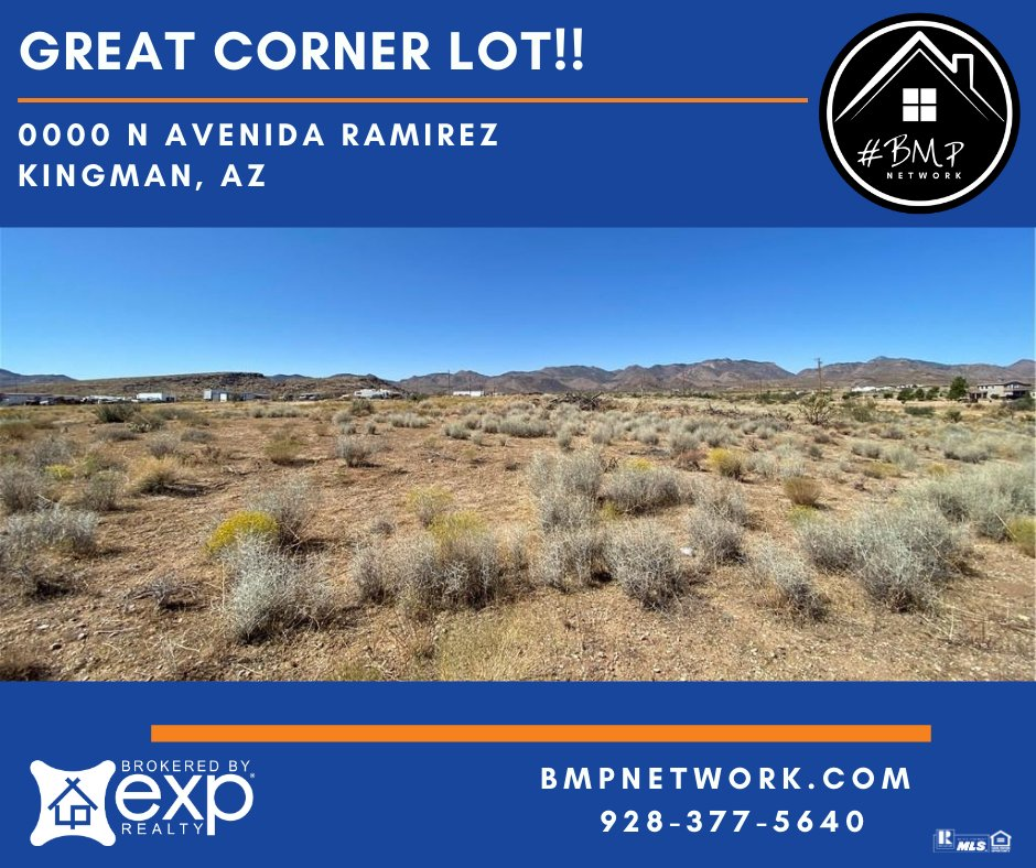 ⭐⭐ GREAT CORNER LOT!! ⭐⭐ More Info: hhttp://ow.ly/3mNI50BLhuw  BMP Network eXp Realty 928-263-6854  #RealEstate #Realtor #ForSale #LandForSale #LotsForSale #BuildYourDreamHome #eXpRealty #NewListing #HomesForSale #Property #Properties  #BMPNetwork #LandForSale #BMPBrian