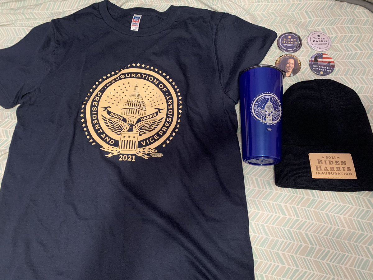 My HISTORIC MERCHANDISE From The @BidenInaugural have just arrived today. #USA #AmericaUnited #BuildBackBetter